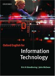 Cover of: Oxford English for Information Technology | Eric H. Glendinning
