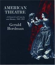 Cover of: American theatre