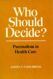 Cover of: Who should decide?
