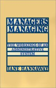 Cover of: Managers managing