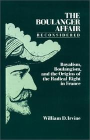 Cover of: The Boulanger Affair reconsidered | William D. Irvine