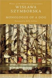 Cover of: Monologue of a dog