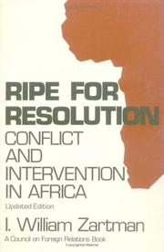 Cover of: Ripe for resolution: conflict and intervention in Africa