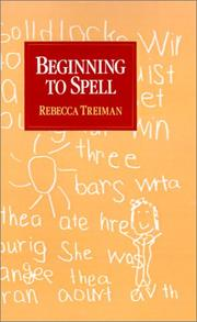 Cover of: Beginning to Spell | Rebecca Treiman