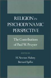 Cover of: Religion in psychodynamic perspective