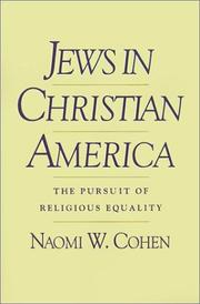 Cover of: Jews in Christian America