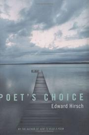 Cover of: Poet's choice