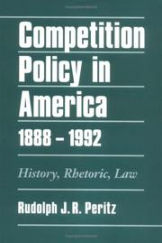 Cover of: Competition Policy in America, 1888-1992