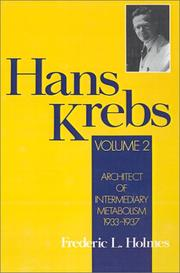 Cover of: Hans Krebs: Volume 2 | Frederic Lawrence Holmes