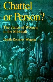 Cover of: Chattel or Person? | Judith Romney Wegner