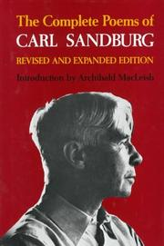 Cover of: The complete poems of Carl Sandburg