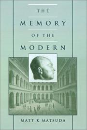 Cover of: The memory of the modern