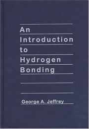 Cover of: An introduction to hydrogen bonding