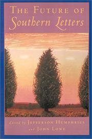 Cover of: The future of southern letters |