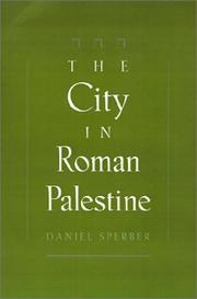 Cover of: The city in Roman Palestine