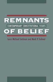 Cover of: Remnants of belief | Louis Michael Seidman