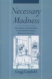 Cover of: Necessary madness