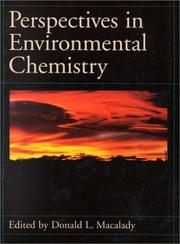 Cover of: Perspectives in environmental chemistry |