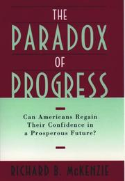 Cover of: The paradox of progress