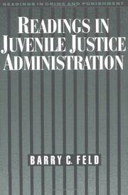 Cover of: Readings in juvenile justice administration |