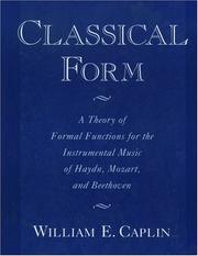 Cover of: Classical form | William Earl Caplin