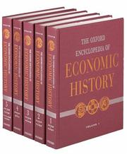 Cover of: The Oxford Encyclopedia of Economic History: 5-Volume Set