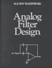Cover of: Analog Filter Design (Oxford Series in Electrical and Computer Engineering) | M. E. Van Valkenburg