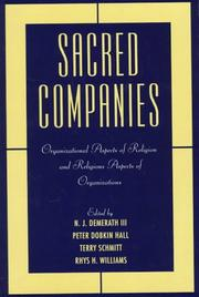 Cover of: Sacred companies |