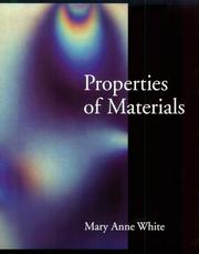 Cover of: Properties of materials | Mary Anne White