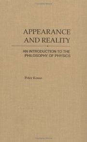 Cover of: Appearance and Reality