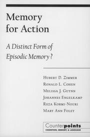 Cover of: Memory for Action  | Hubert D. Zimmer