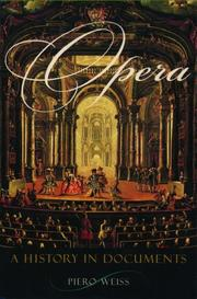 Cover of: Opera | Piero Weiss