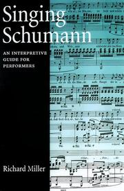 Cover of: Singing Schumann
