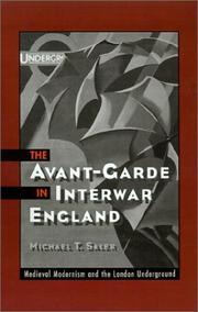 Cover of: The avant-garde in interwar England