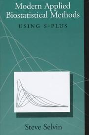 Modern applied biostatistical methods using S-Plus by S. Selvin