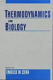 Cover of: Thermodynamics in Biology