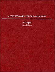 Cover of: A dictionary of old Marathi