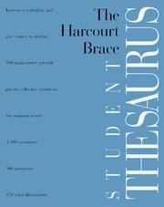 Cover of: The Harcourt Brace student thesaurus | [editor, Christopher Morris].