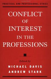Cover of: Conflict of interest in the professions by
