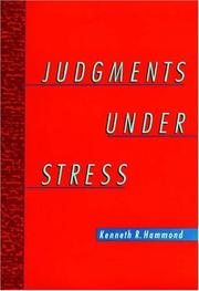 Cover of: Judgments under stress