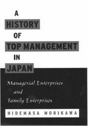 Cover of: A History of Top Management in Japan