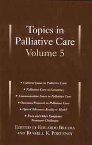 Cover of: Topics in palliative care |