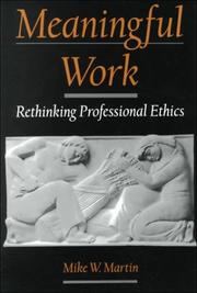 Cover of: Meaningful Work | Mike W. Martin
