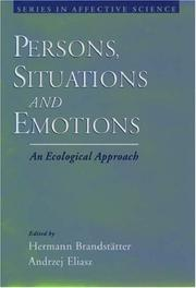 Cover of: Persons, Situations, and Emotions |
