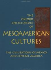 Cover of: The Oxford Encyclopedia of Mesoamerican Cultures