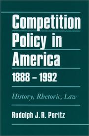 Cover of: Competition policy in America