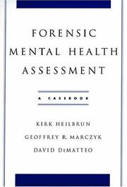 Cover of: Forensic mental health assessment |