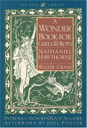 Cover of: A Wonder Book for Girls and Boys (The Iona and Peter Opie Library of Childrens Literature)
