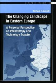 Cover of: The Changing Landscape in Eastern Europe | Richard E. Quandt