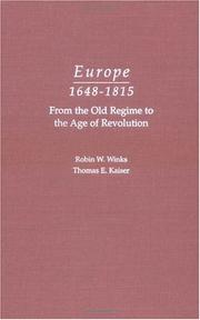 Cover of: Europe, 1648-1815 | Winks, Robin W.
